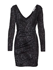 Snake print gown