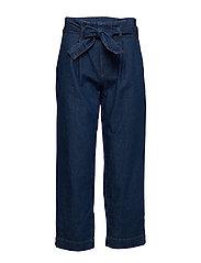 Straight-fit belt jeans - OPEN BLUE