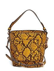 Leather bucket bag - MEDIUM YELLOW