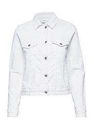 Pocketed denim jacket - WHITE