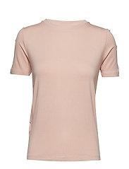 Ribbed neck t-shirt - PINK