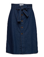 Denim belt skirt - OPEN BLUE