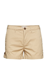 Cotton-blend shorts - LIGHT BEIGE