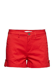Cotton-blend shorts - RED