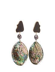 Nacre earrings - BLACK