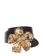 Flower Buckle Leather Belt
