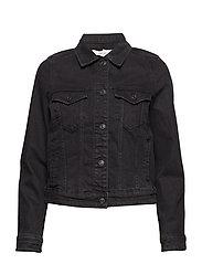 Pocketed denim jacket - OPEN GREY