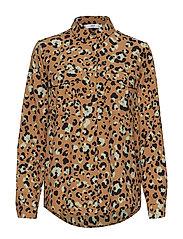 Leopard print shirt - BROWN