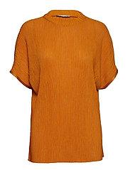 Pleated t-shirt - MEDIUM YELLOW