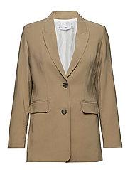 Tortoiseshell buttons Jacket - BEIGE - KHAKI