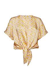 Knot detail blouse - NATURAL WHITE