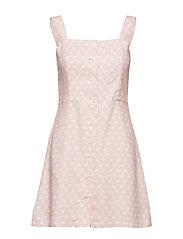 Cotton-blend dress - NATURAL WHITE