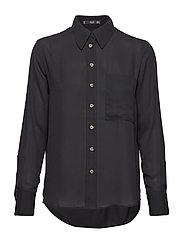 Pocket flowy shirt - BLACK