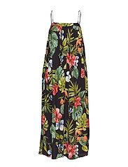 Tropical oversize dress - BLACK