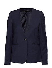 Structured textured blazer - NAVY