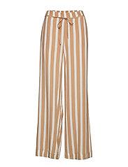 Flowy printed trousers - LIGHT BEIGE