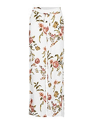 Flowy printed trousers - NATURAL WHITE
