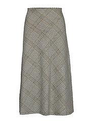 Checked midi skirt - GREY