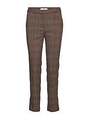 Straight long pants - BROWN