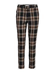 Straight long pants - MEDIUM BROWN
