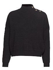 Button sweater - BLACK
