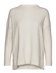 Ribbed detail sweater - LIGHT BEIGE