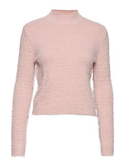 Textured knit sweater - LT-PASTEL PINK