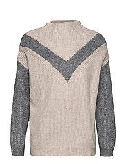 Bow flecked sweater - LT PASTEL GREY