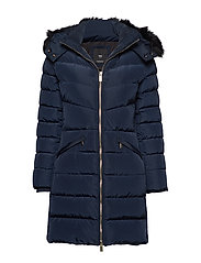 Quilted feather coat - NAVY