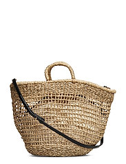 Handmade Basket Bag Bags Shoppers Casual Shoppers Beige MANGO