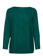 Ribbed knit sweater - DARK GREEN
