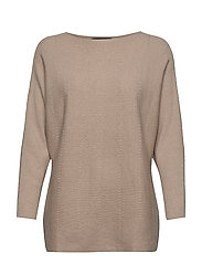 Ribbed knit sweater - LIGHT BEIGE