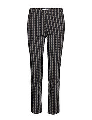 Crop slim-fit trousers - CHARCOAL