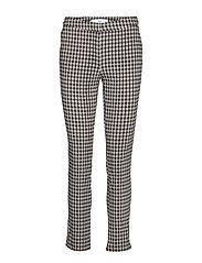 Crop slim-fit trousers - LIGHT BEIGE