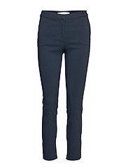 Crop slim-fit trousers - NAVY