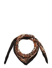 Snake Print Scarf Scarf Brun MANGO