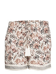 Floral print shorts - NATURAL WHITE