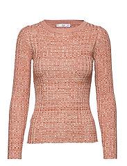 Flecked rib sweater - ORANGE