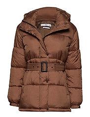 Belted coat - BROWN