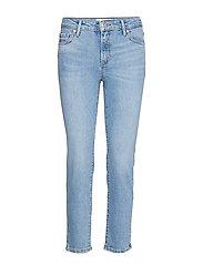 Cropped Slim-Fit Grace Jeans Slimmade Jeans Blå MANGO