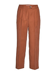 Straight long pants - DARK BROWN
