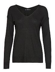 V-neckline sweater - BLACK
