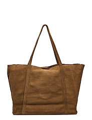 Leather Shopper Bag Bags Shoppers Casual Shoppers Brun MANGO
