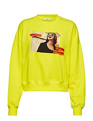 Printed Fluor Sweatshirt Langermet Genser Gul MANGO
