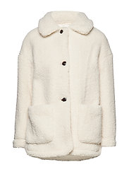 Sheepskin jacket - NATURAL WHITE