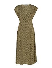 Midi printed dress - BEIGE - KHAKI