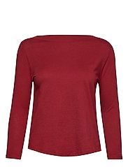 Organic cotton t-shirt - DARK RED