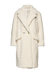Faux shearling coat - NATURAL WHITE