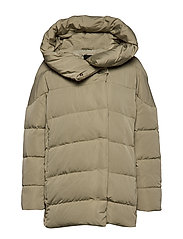 Hood quilted coat - GREEN