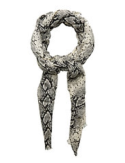 Snake Print Scarf Scarf Beige MANGO